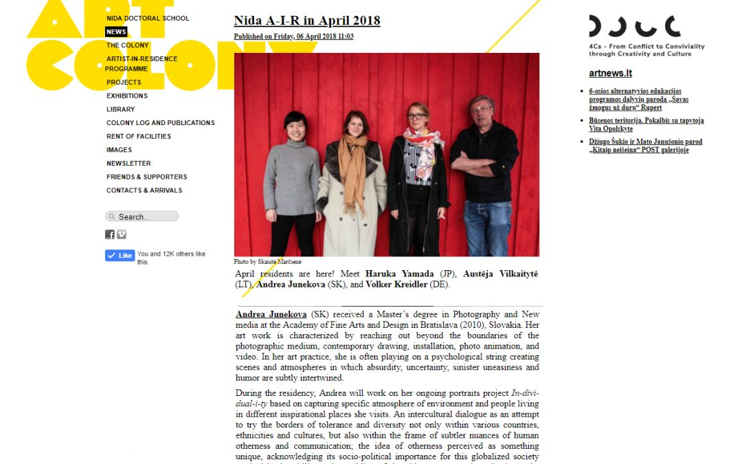 April 2018 / Arist in residence_Nida Art Colony