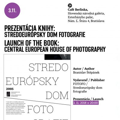 Launch of the book: Central European House of Photography